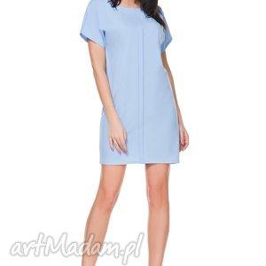 hand-made sukienki sukienka szyfonowa t166, błękitna