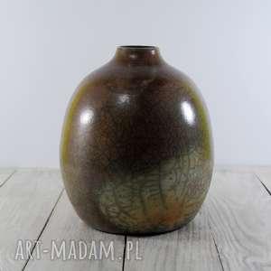 święta, wazon raku, prezent, ceramika technika krakle