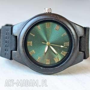 damski drewniany zegarek glossy green, damski, drewniany, błyszczący, elegancki