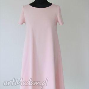 sukienki 7kr - sukienka różowa, sukienki, sukienka, rozkloszowana, trapez