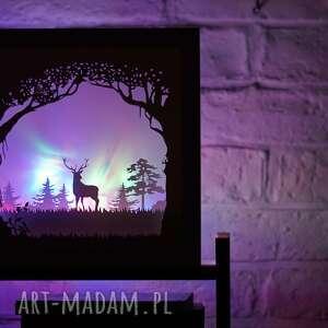papierówka oh my deer - podświetlana dekoracja 3d, obraz led, ramka