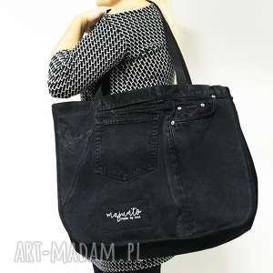 Duża torba Upcykling JEANS 6 CK od majunto, duża-torba, jeansowa-torba, jeans