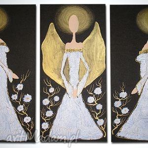 Anioły szczęścia i dobrobytu - a2 90x70cm aleobrazy anioły