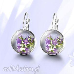 kolczyki - fioletowy kwiat