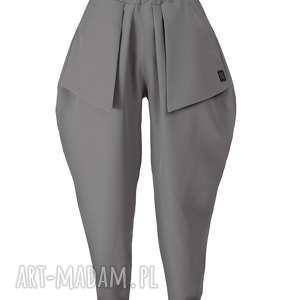 Grafitowe spodnie z kieszeniami non tess grafitowe, kieszonki