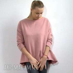 bluza oversize z długim rękawem, bluza, asymetryczna, oversize
