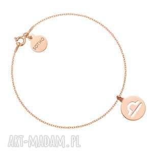 bransoletka z zodiakiem wagi różowego złota, bransoletka, różowe złoto