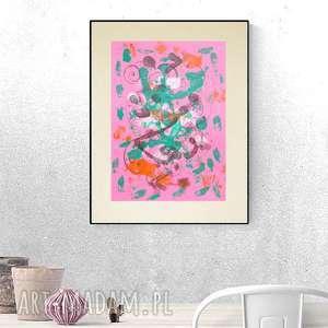 annasko kolorowa dekoracja, abstrakcyjna grafika, abstrakcja do pokoju