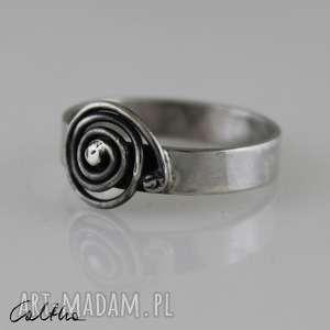 Ślimak - srebrny pierścionek rozmiar 20, pierścionek, pierścień, srebro,