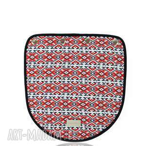torebki klapka puro 1242 belarusian color, naszywana, tasiemki, kolorowa, klapkomania