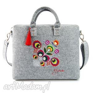 ręcznie zrobione na ramię torebka filcowa z podpisem 218