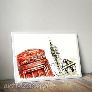 grafika londyn cyfrowa, grafika, rysunek, obraz, londyn, miasto dom