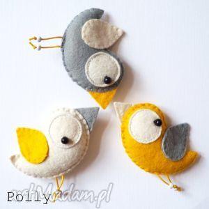 Three little birds: - przypinki dla dziecka polly27 broszki
