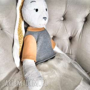 Prezent DUŻY królik handmade, króliś, przytulanka-handmade, prezent-królik