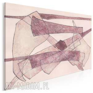 obraz na płótnie - abstrakcja kształty brązowy 120x80 cm 701601, nowoczesny