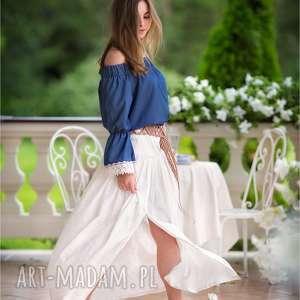 Dłóga spódnica z haftowanej bawełny w rozm od 34 do 42, spódnica, bawełna