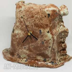 zegary duży stojący ceramiczny zegar 22 cm x 30 prezent ozdoba wnętrza