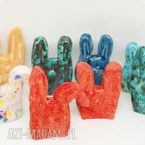 Zajączek wielkanocny ceramiczny różne wzory i kolory prezent