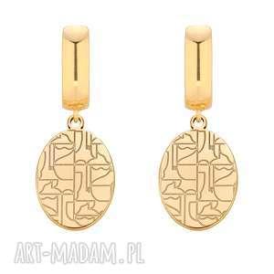 złote kolczyki art n°1 - duże, zawieszka, bigle
