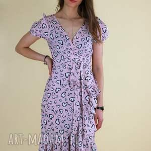 sukienki letnia długa midi sukienka wiązana w pasie lona