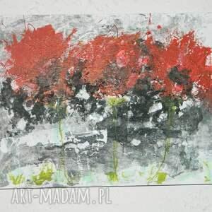 wyjątkowy prezent, maki 3d-obraz, nowoczesny obraz, obraz do salonu, abstrakcja