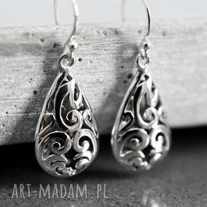 925 ALHAMBRA srebre kolczyki, orient, orientalne, srebro, srebrne, długie,