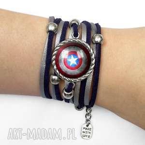 egginegg bransoletka kapitan ameryka - superbohater, tarcza
