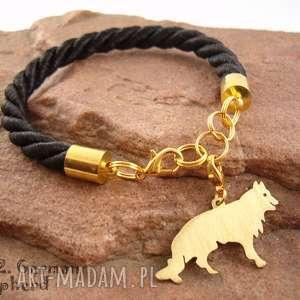 ręczne wykonanie bransoletki bransoletka owczarek niemiecki pies nr. 12