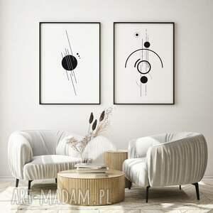 zestaw plakatów - black circle 50x70 cm, plakatów, czarno biały plakat