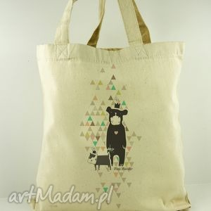 torba mogi i dogi - płócienna, nadruk, oryginalny, prezent, dzień, dziecka, matki