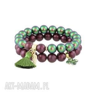 zestaw bransolet z pereł swarovskiego - święta, perła