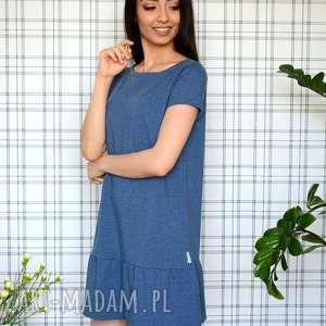 hand made sukienki sukienka z falbaną s/m/l/xl jeansowa