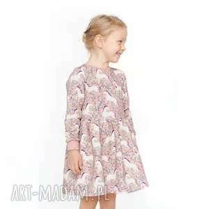 handmade sukienka dresowa jednorożce w kwiatach
