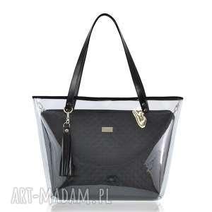 torebki torebka delise 2w1 1198 czarna, delise, pikowana, wkłady, foliowa