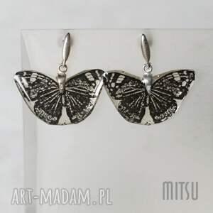 kolczyki motyle, kolczyki, unikat, graficzne, lekkie, dla-niej