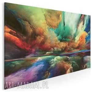 obraz na płótnie - kolorowe chmury abstrakcja 120x80 cm (98601)