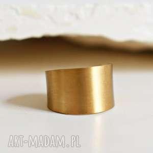 Prezent Miedziany minimalistyczny pierścionek lata 70-te , miedź, złoto, retro