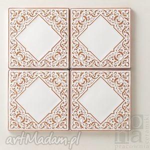 kafle 10cm andante białe, kafle, dekory, płytki, ścienne, orientalne, ornamentowe