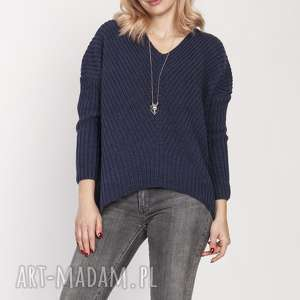 Asymetryczny sweterek, swe191 jeans mkm swetry sweter, jesień