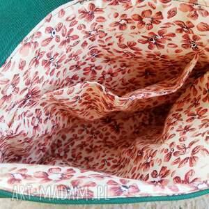 listonoszka z sową haft - Ręcznie zrobione