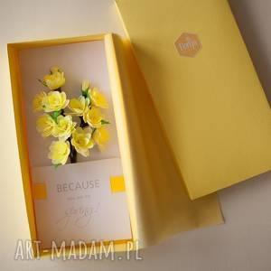 wyjątkowy prezent, karteczki 3d, karteczki, 3d, spersonalizowany, kwiaty