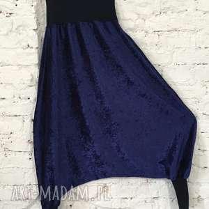 Aksamitne spodnie, aksamitne, wymyślne, oryginalna, luzne, alladyny