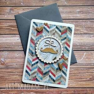 Personalizowany dzień dziadka scrapbooking kartki cynamonowe