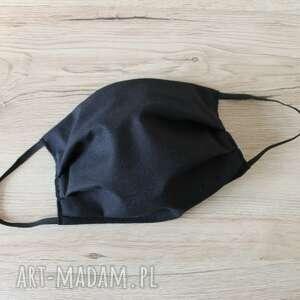 torebki niezwykle maseczka bawełniana - czarna, maska, maseczka, maseczki