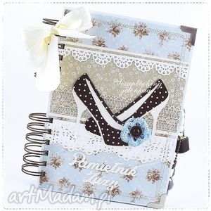hand-made scrapbooking notesy notes-pamiętnik - zamykany na kłódkę