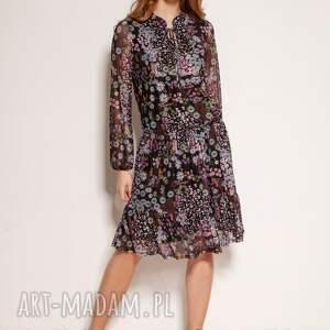 sukienki wzorzysta sukienka z siateczki - suk194 wzór, na lato