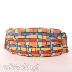 hipsterska nerka saszetka w kwadraciki, nerka, saszetka, kolorowa, kwadraty, hipster