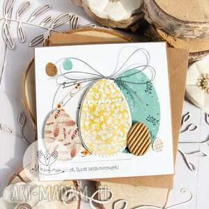 handmade pomysł na prezent pod choinkę subtelna kartka wielkanocna. Święta wielkiej