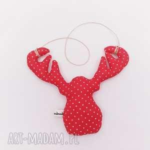świąteczna zawieszka głowa łosia - ,zawieszka,świąteczna,ozdoba,choinkowa,bombki,łoś,