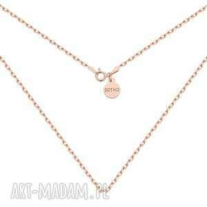 Masywny łańcuszek z różowego złota naszyjniki sotho naszyjnik,